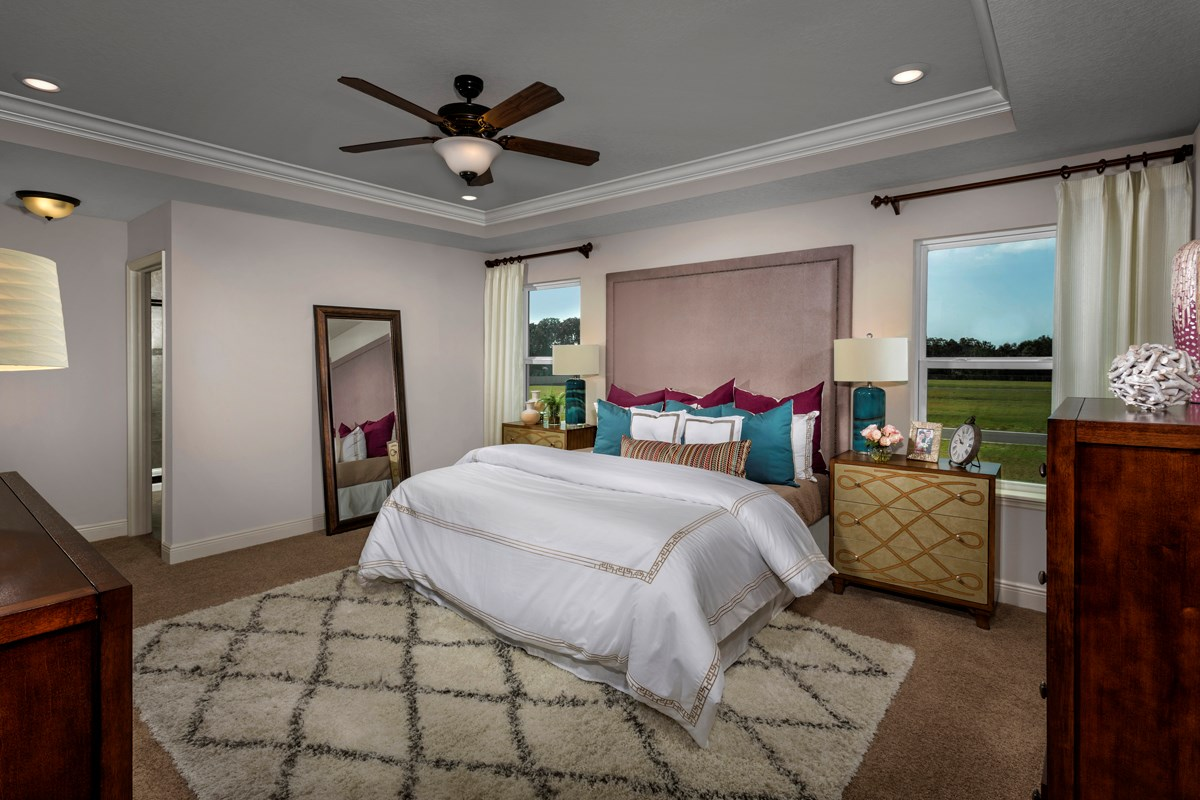 New Homes in Seminole, FL - Seminole Groves Plan 2851 Master Bedroom