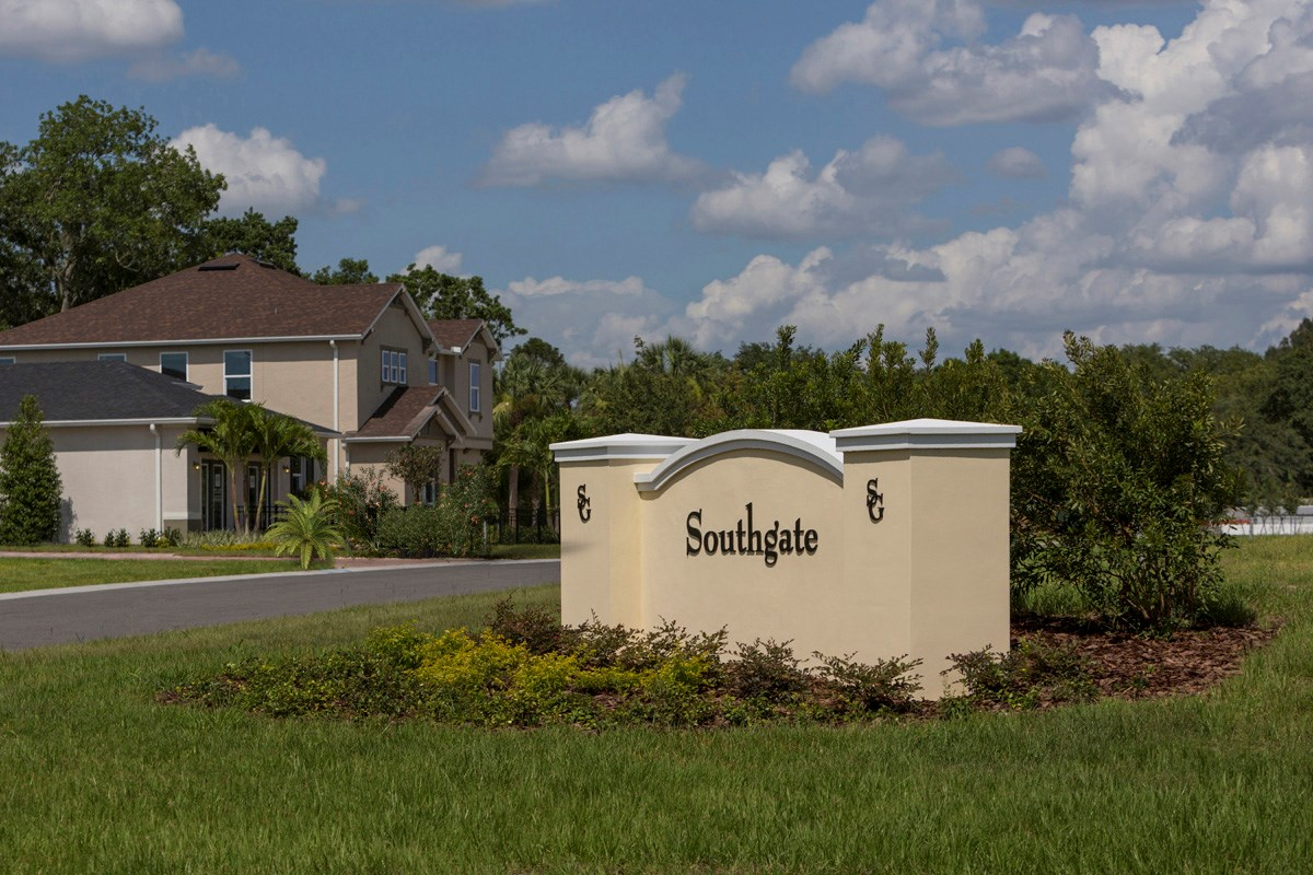 New Homes in Gibsonton, FL - Southgate Community Entrance