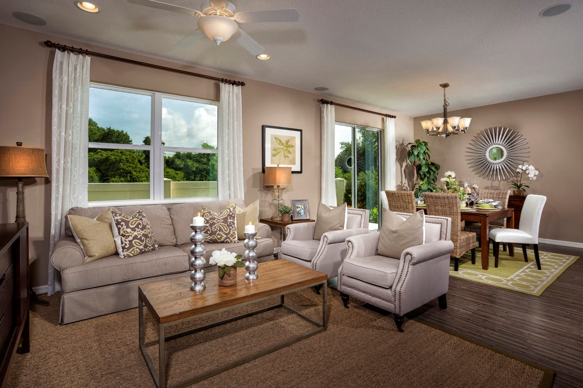 New Homes in Gibsonton, FL - Southgate Plan 1787 Great Room