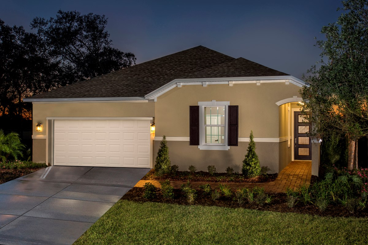 New Homes in Land O' Lakes, FL - The Woodlands Plan 2293 Front Exterior