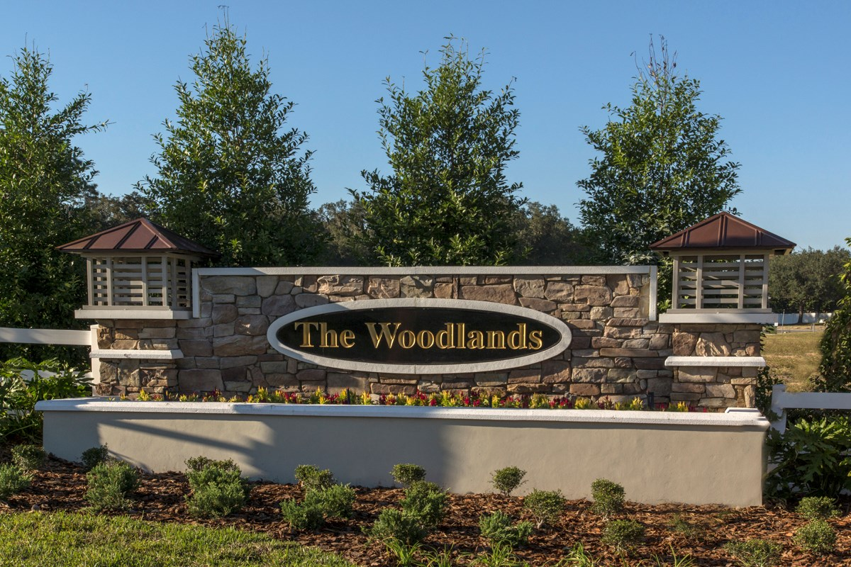 New Homes in Land O' Lakes, FL - The Woodlands Entry Monument