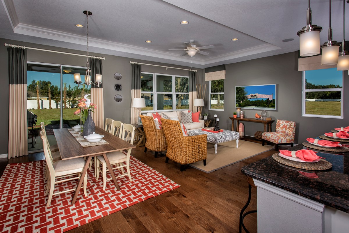 New Homes in Land O' Lakes, FL - The Woodlands Plan 2293 Great Room