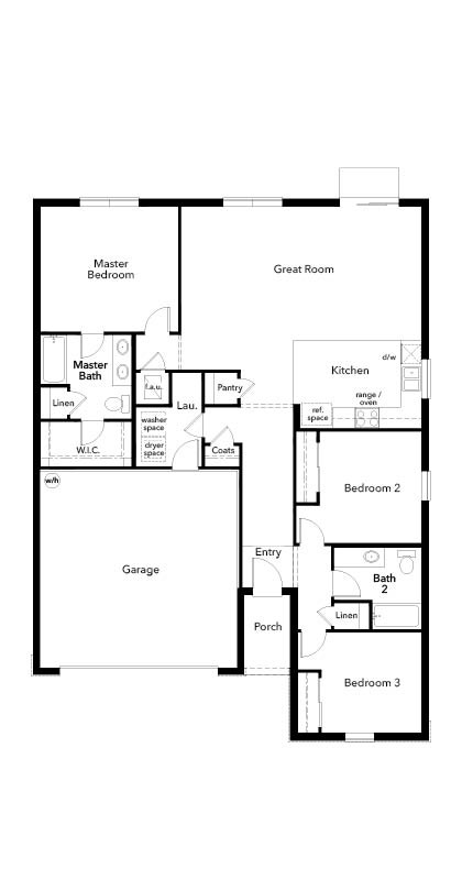 New Homes in Valrico, FL - Plan 1541, First Floor