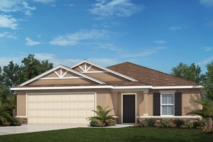 New Homes in Tampa, FL - Elevation B with Stone