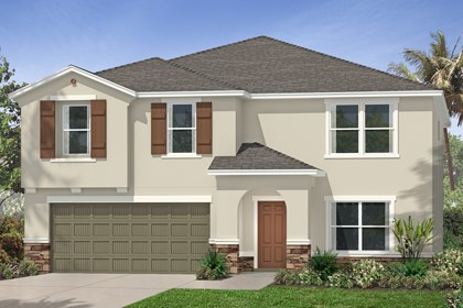 New Homes in Tampa, FL - Elevation C with Stone