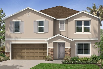 New Homes in Tampa, FL - Elevation D with stone
