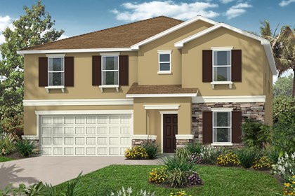 New Homes in Tampa, FL - Elevation A Stone