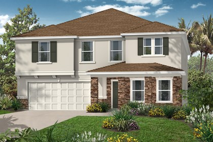 New Homes in Tampa, FL - Elevation C Stone