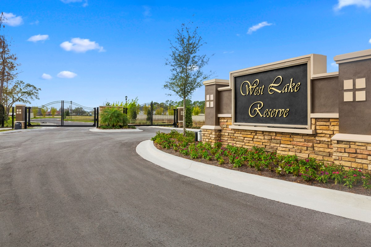 New Homes in Tampa, FL - West Lake Reserve West Lake Reserve Gated Entrance