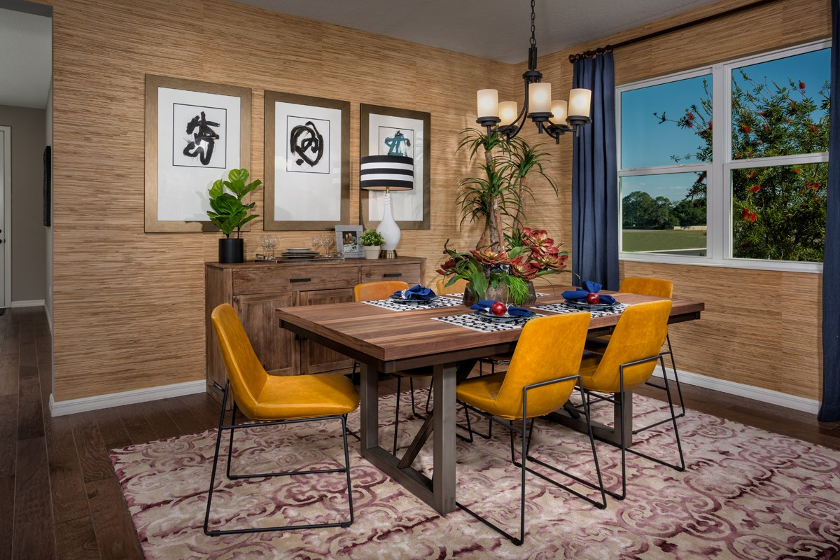 New Homes in Bradenton, FL - Lakewood Estates 2333 Dining Room as modeled at West Lake Reserve