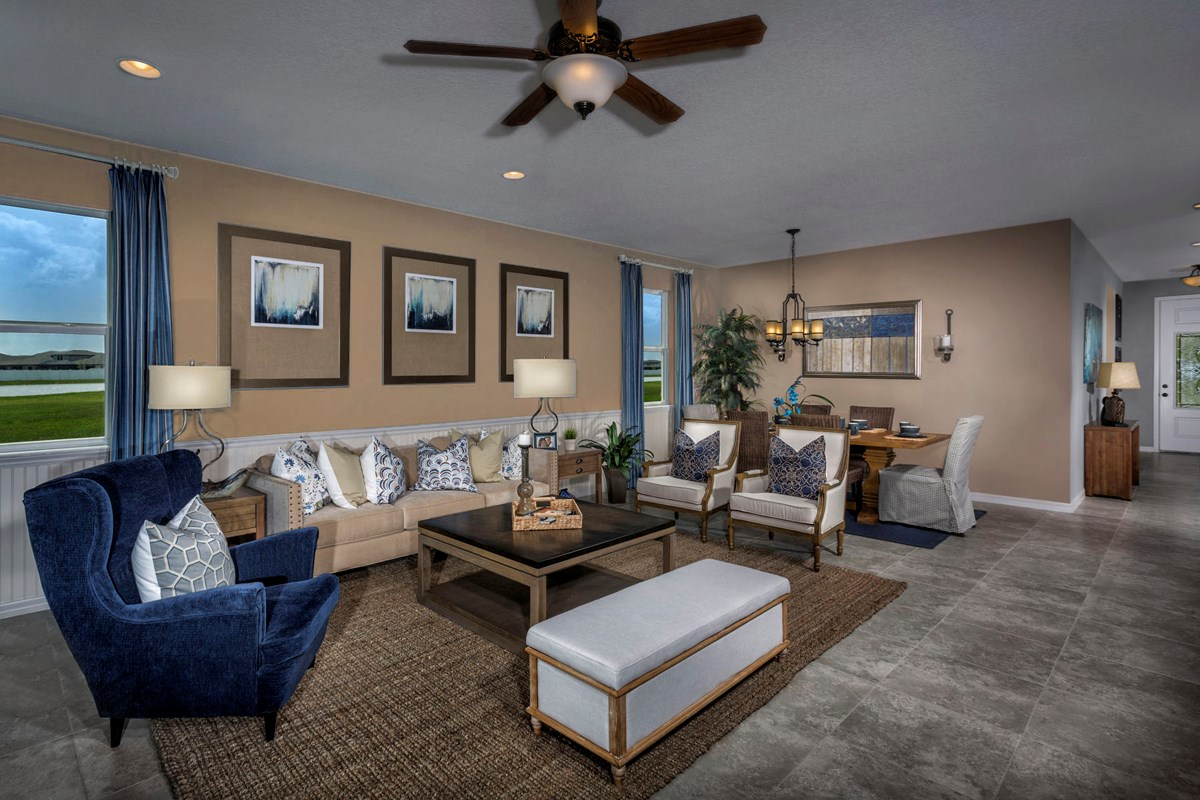 New Homes in Trinity, FL - Wild Fern Village at Trinity Lakes Plan 2003 Great Room