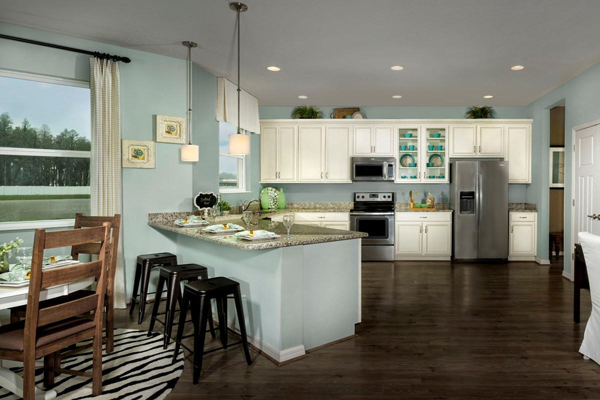 New Homes in Trinity, FL - Wild Fern Village at Trinity Lakes Plan 2550 Kitchen and Nook