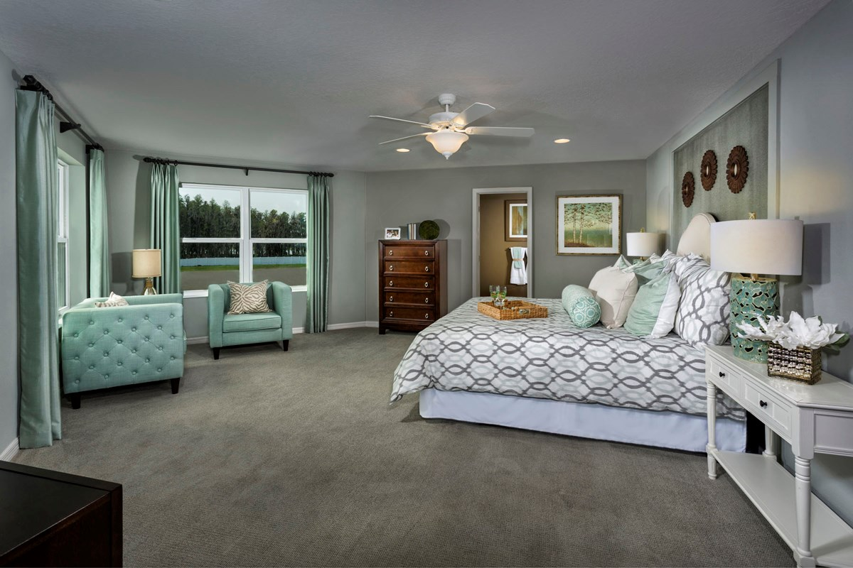 New Homes in Trinity, FL - Wild Fern Village at Trinity Lakes Plan 2550 Master Bedroom