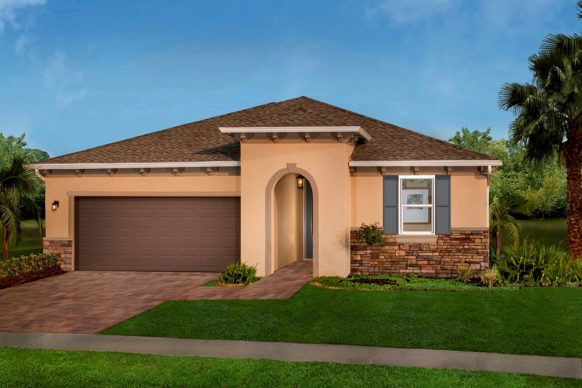 New Homes in Trinity, FL - Wild Fern Village at Trinity Lakes Plan 2003 Exterior