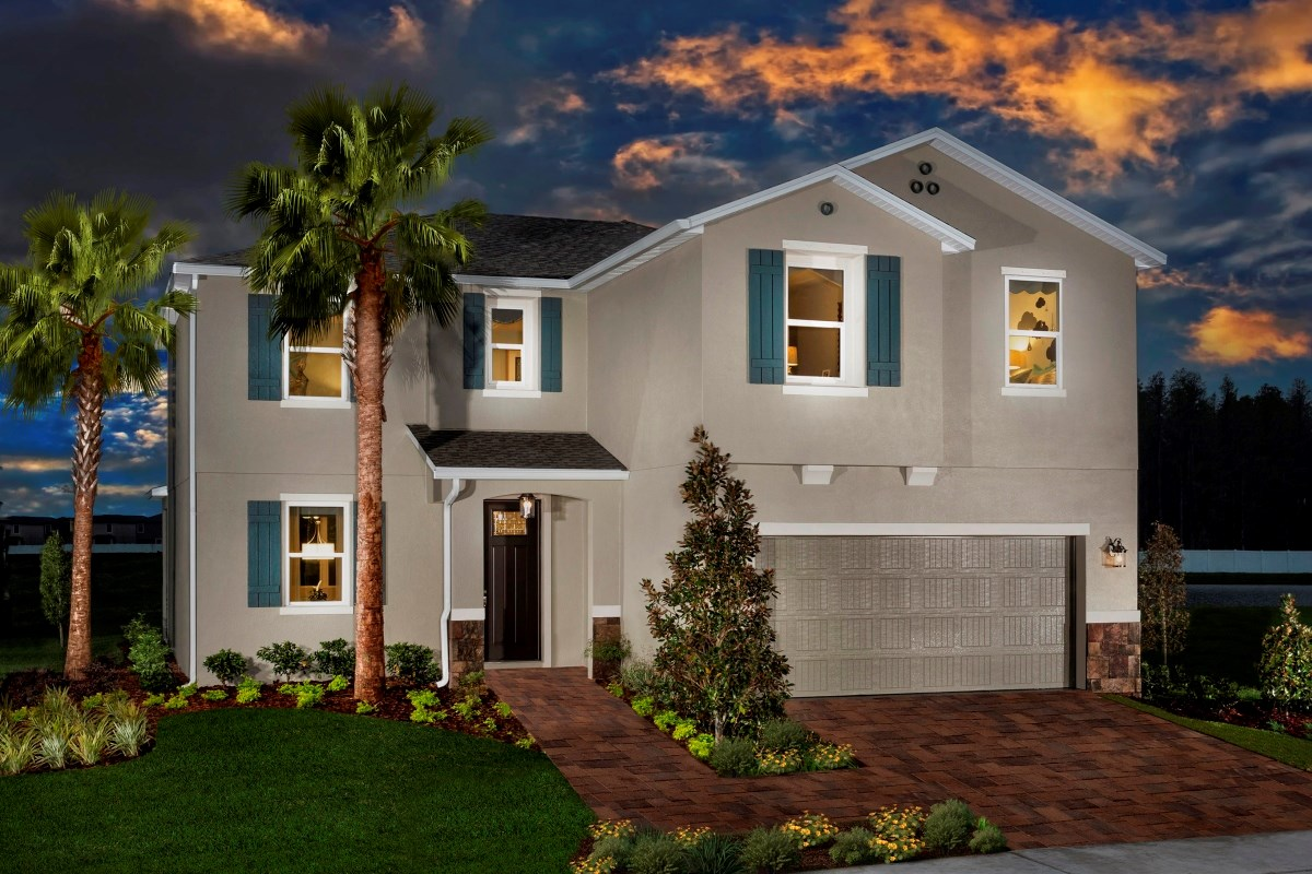 New Homes in Trinity, FL - Wild Fern Village at Trinity Lakes Plan 2550 Exterior