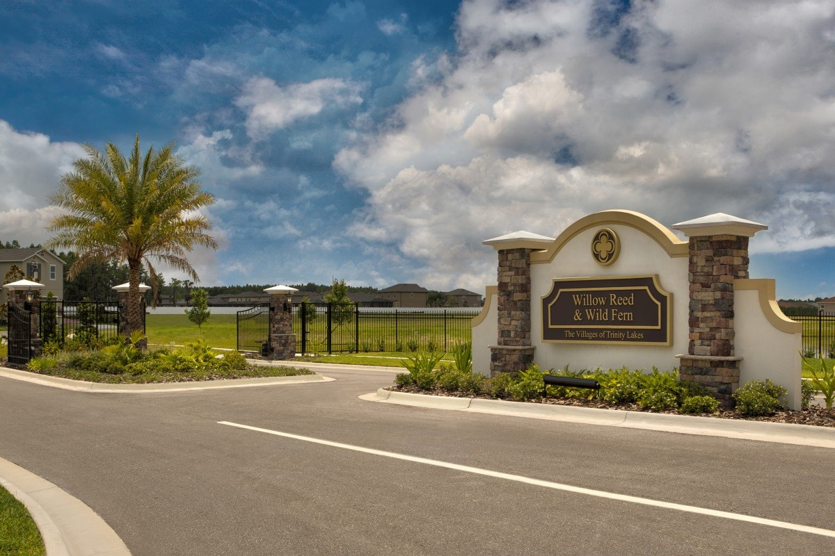 New Homes in Trinity, FL - Wild Fern Village at Trinity Lakes Community Entrance
