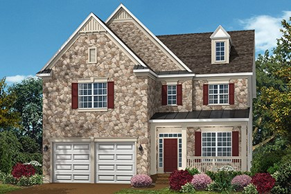 New Homes in Ellicott City, MD - The Amora - Elevation C with optional stone
