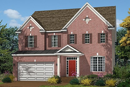 New Homes in Ellicott City, MD - The Marbella - Elevation B with brick