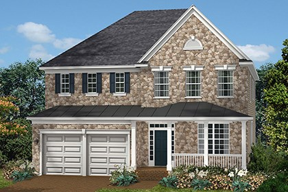 New Homes in Ellicott City, MD - The Marbella - Elevation C with optional stone
