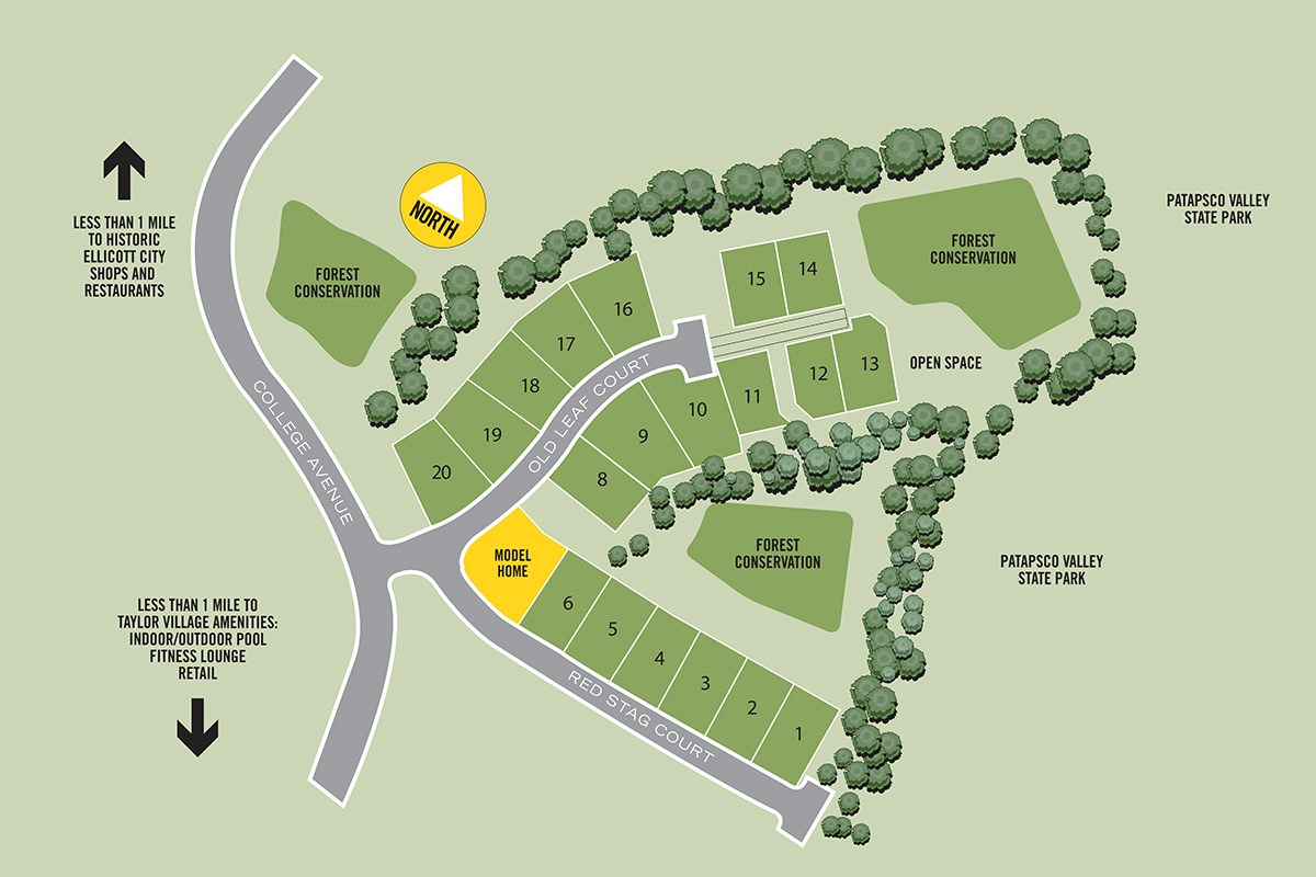 New Homes in Ellicott City, MD - Autumn Overlook Autumn Overlook Site Plan