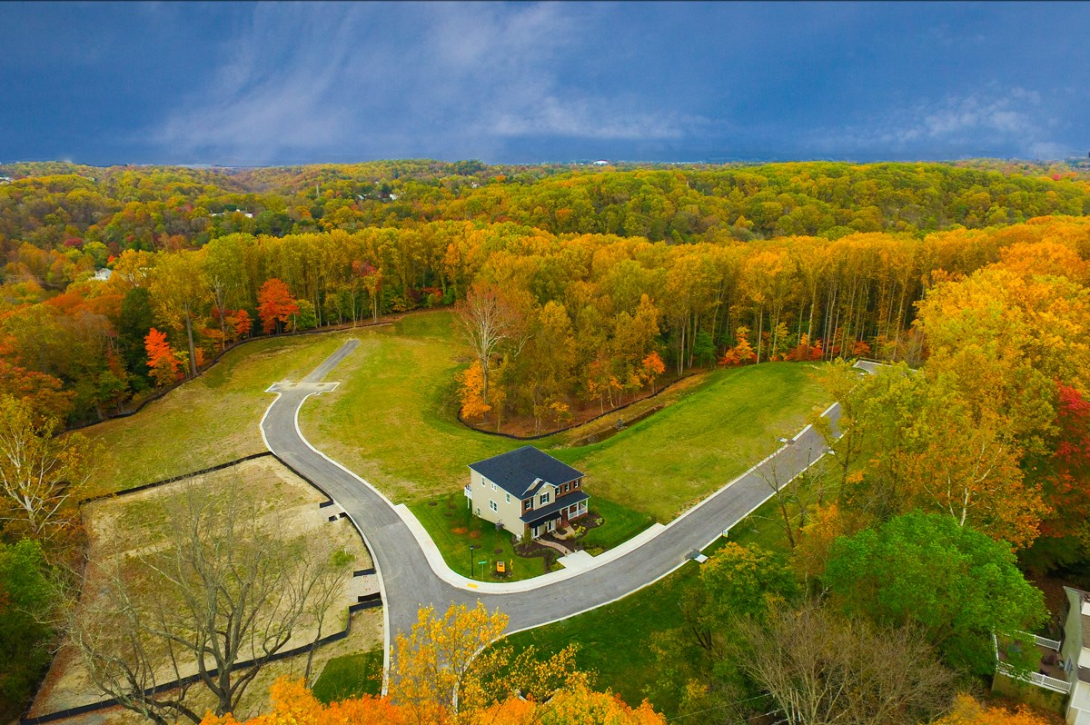 New Homes in Ellicott City, MD - Autumn Overlook Homesites nestled on the edge of Patapsco State Valley Park