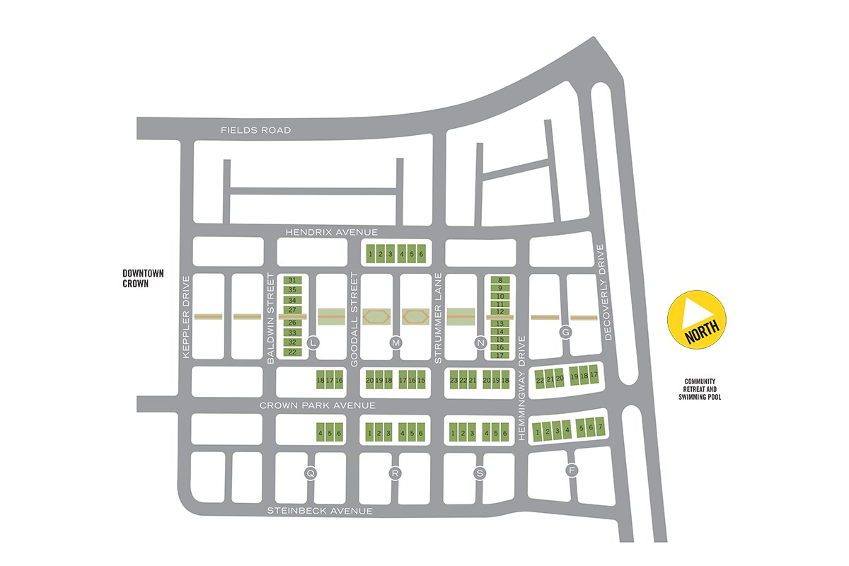 New Homes in Gaithersburg, MD - Crown Crown Site Plan