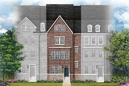 New Homes in Gaithersburg, MD - Midori Elevation A