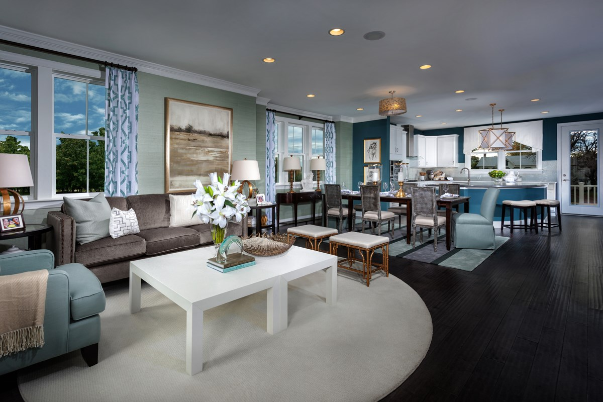 New Homes in Gaithersburg, MD - Crown Midori Living Room