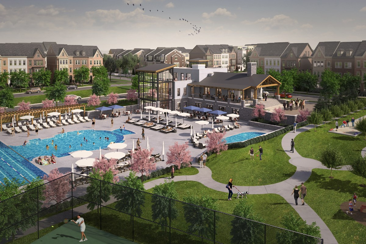 New Homes in Gaithersburg, MD - Crown The Retreat Community Pool