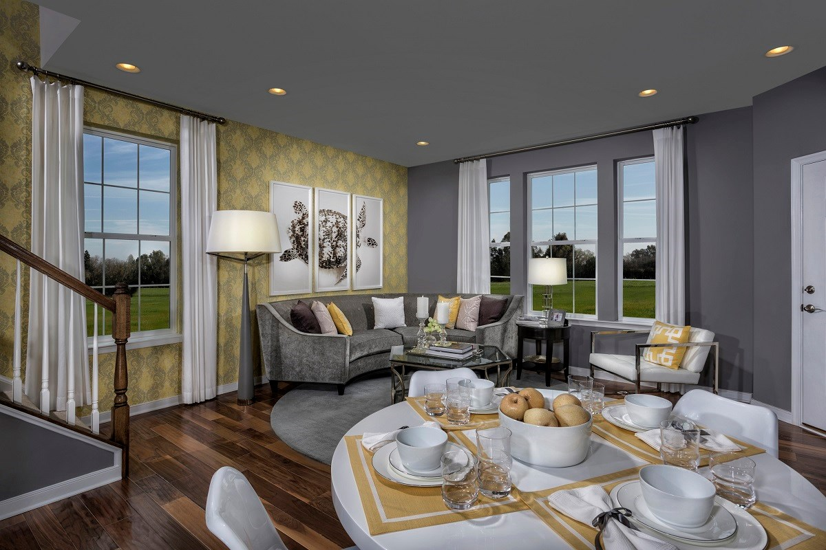 New Homes in Frederick, MD - Eastchurch Sinclair Dining Room and Living Room