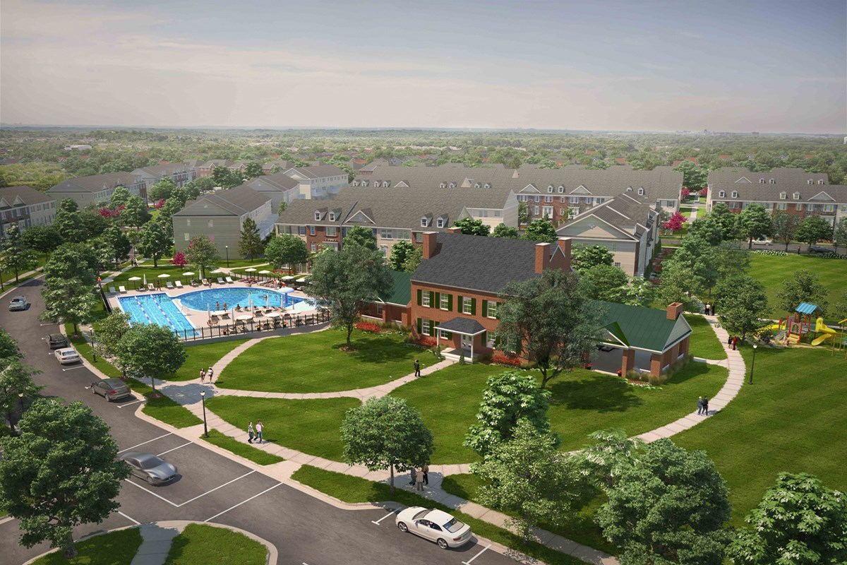New Homes in Frederick, MD - Eastchurch Community Pool and Clubhouse