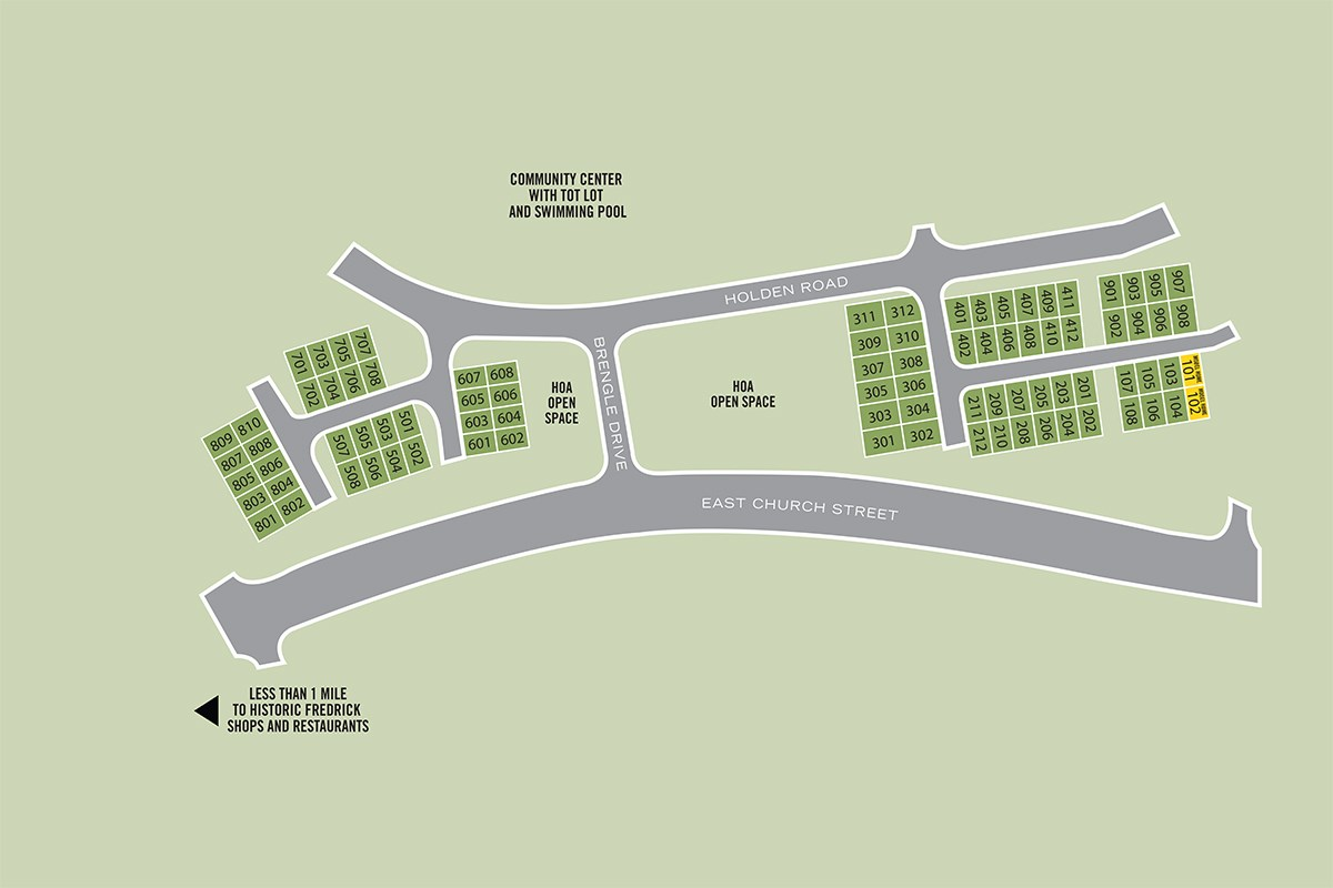New Homes in Frederick, MD - Eastchurch East Church Site Plan
