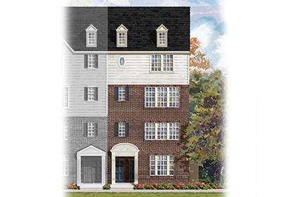 New Homes in Frederick, MD - Elevation A