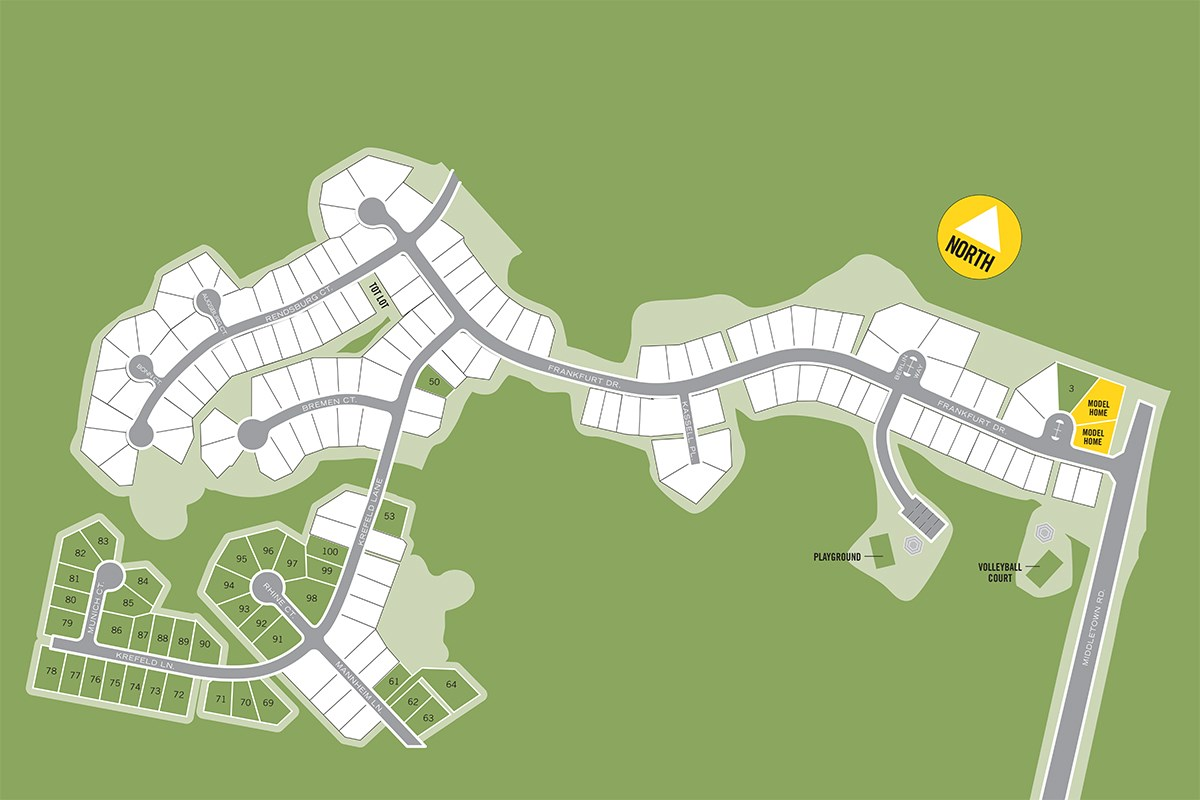 New Homes in Waldorf, MD - Middletown Woods Middletown Woods Site Plan