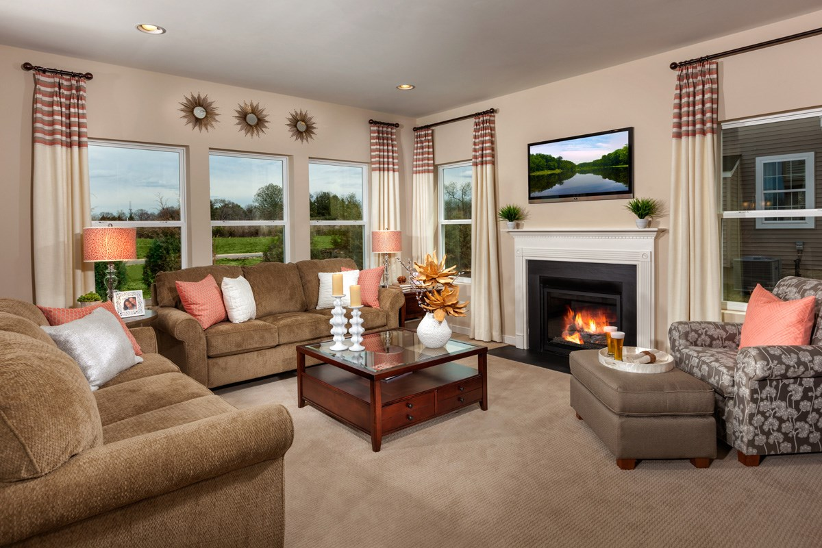 New Homes in Waldorf, MD - Stonewell 2302 Family Room