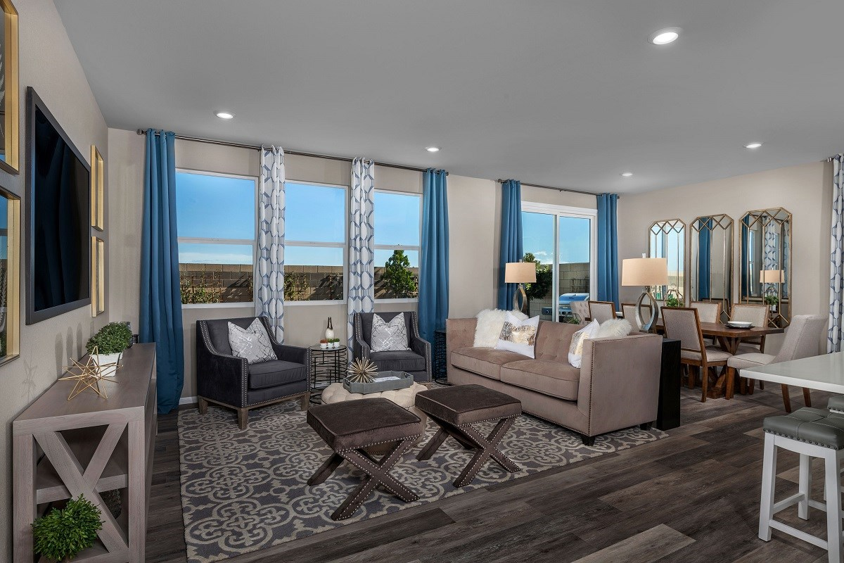 New Homes in Las Vegas, NV - Alder Landing Plan 2469 Great Room