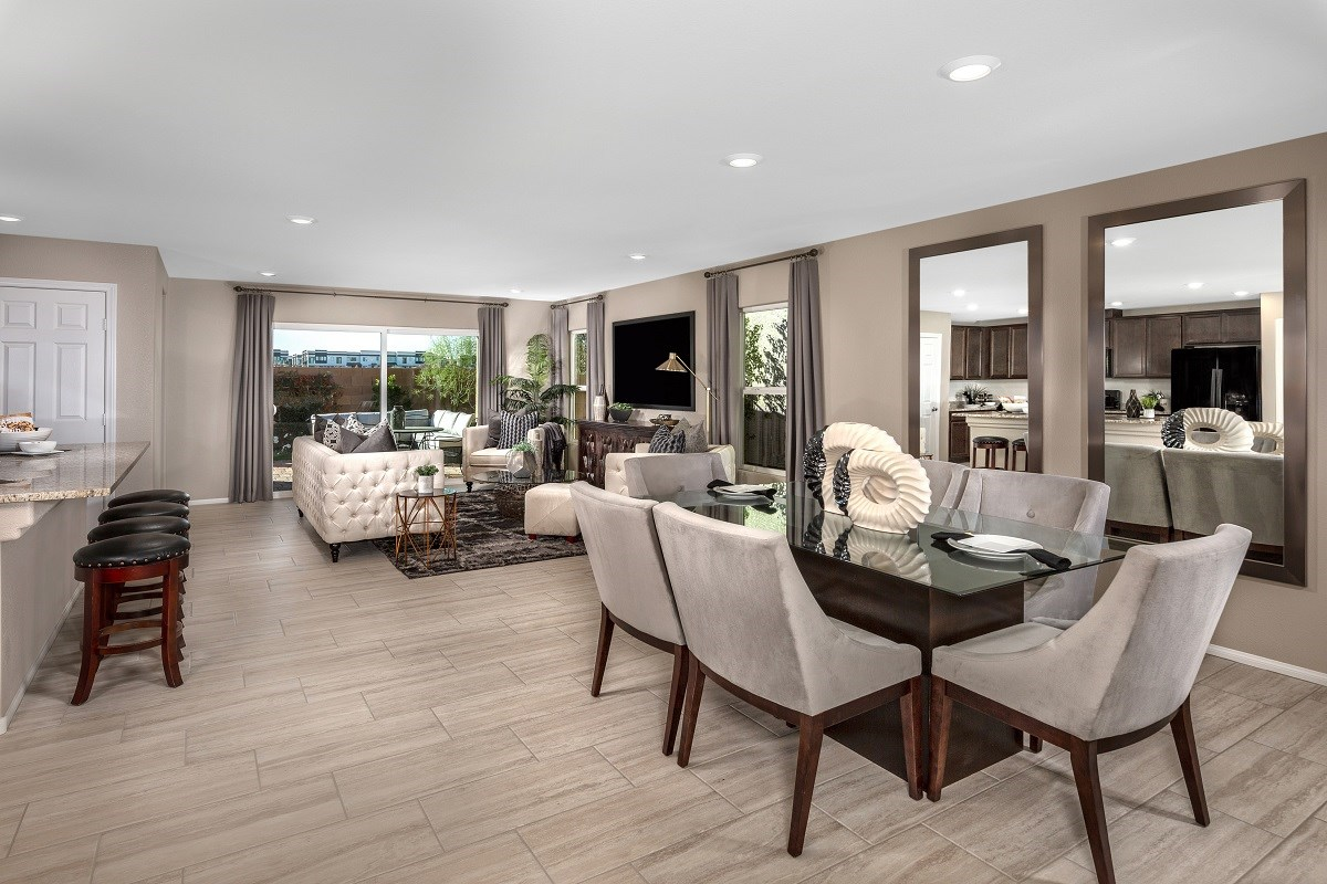 New Homes in Las Vegas, NV - Reserves at Amizade Plan 1849 Greatroom