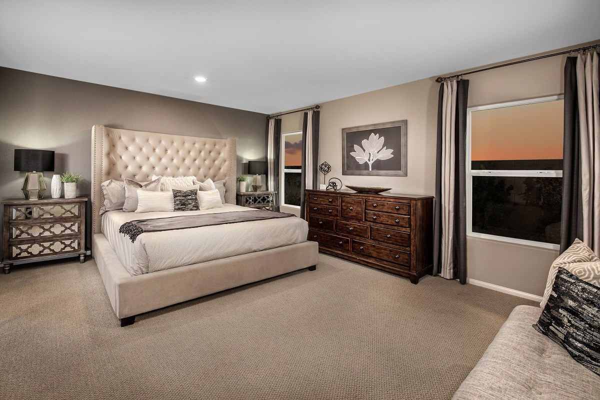 New Homes in Las Vegas, NV - Reserves at Amizade Plan 1849 Master Bedroom