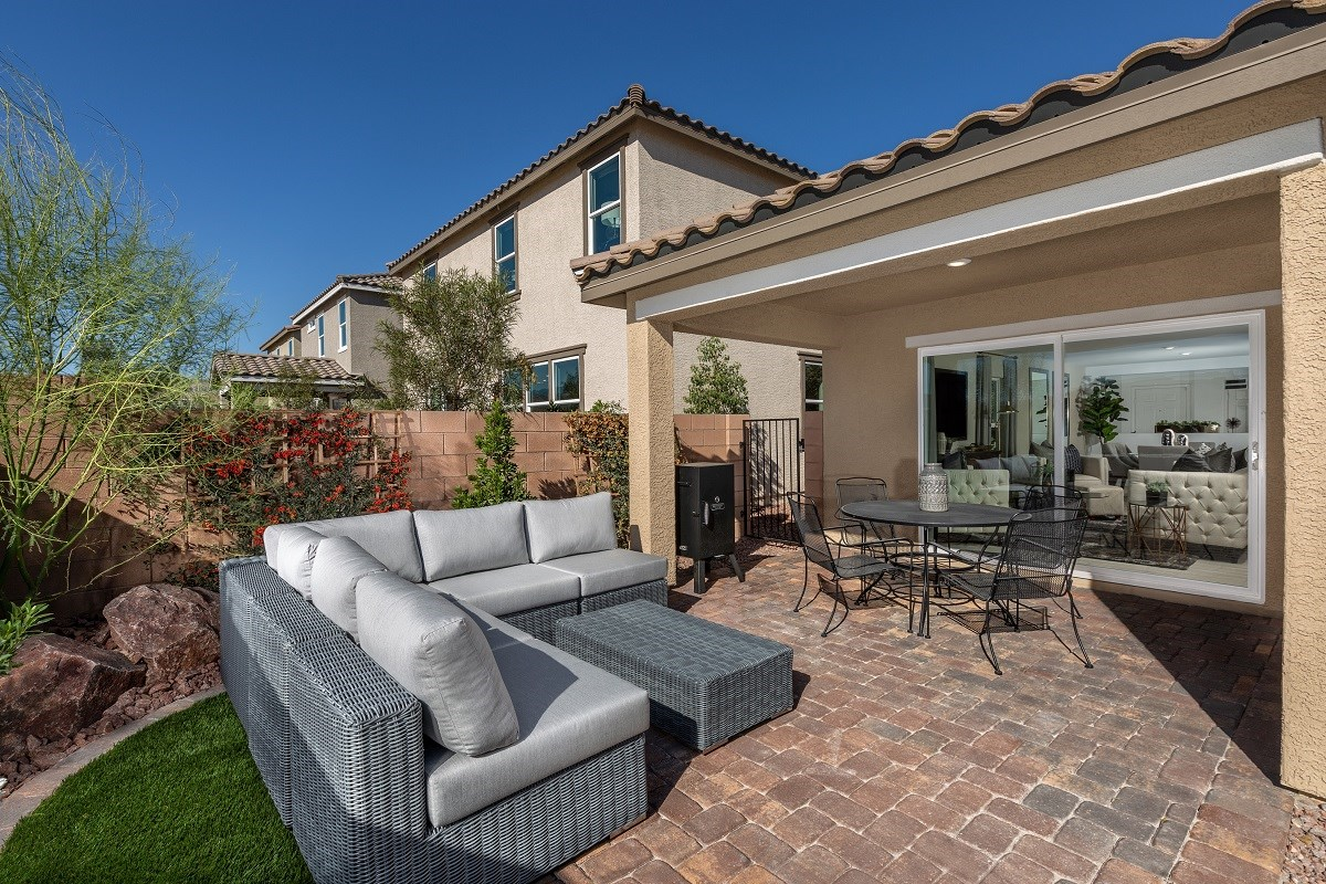 New Homes in Las Vegas, NV - Reserves at Amizade Plan 1849 Backyard
