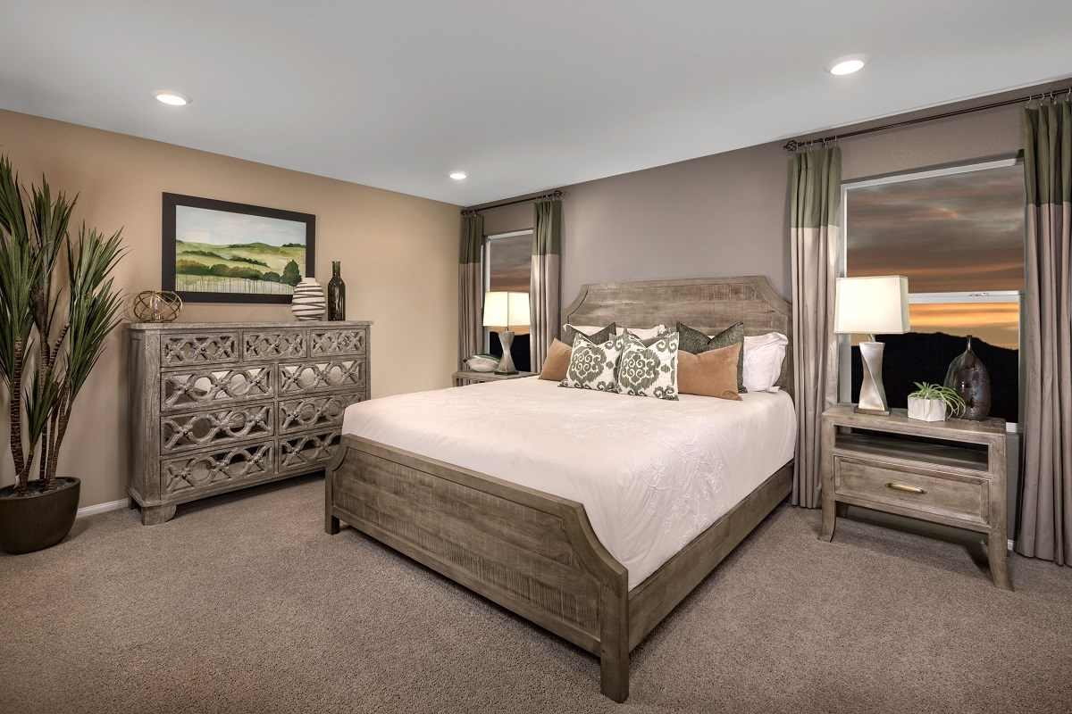 New Homes in Las Vegas, NV - Landings at Amizade Plan 2115 Master Bedroom