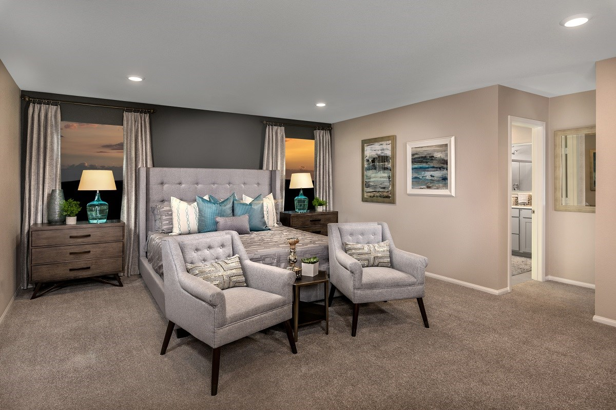 New Homes in Las Vegas, NV - Landings at Amizade Plan 2469 Master Bedroom