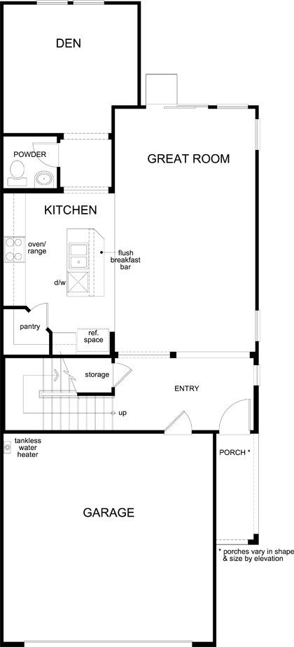 New Homes in North Las Vegas, NV - Plan 2089, First Floor