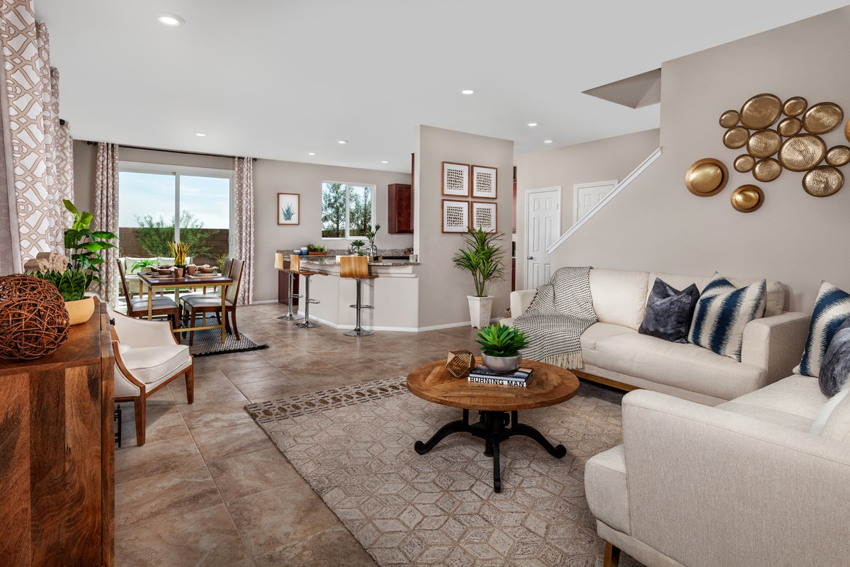New Homes in North Las Vegas, NV - Aurora Heights Plan 1644 Great Room