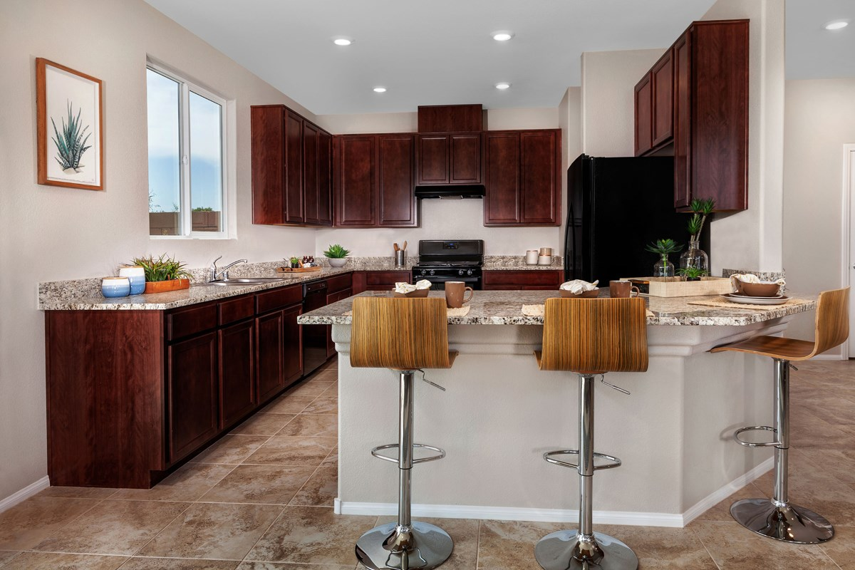 New Homes in North Las Vegas, NV - Aurora Heights Plan 1644 Kitchen