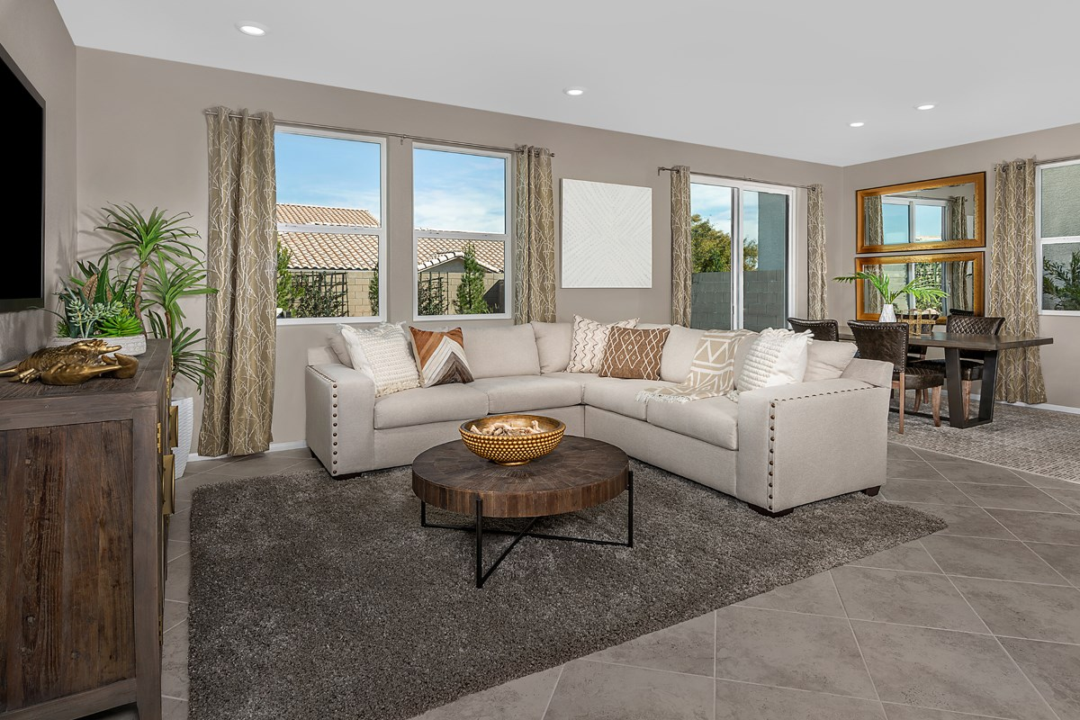 New Homes in Las Vegas, NV - Autumn Cliffs Plan 1657 Greatroom