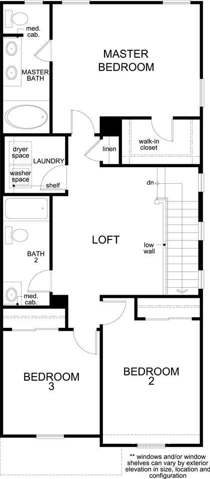 New Homes in Las Vegas, NV - Plan 1713 End Unit Modeled, Second Floor