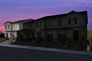 New Homes in Las Vegas, NV - Plan 1673 End Unit Modeled