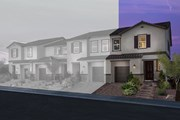 New Homes in Las Vegas, NV - Plan 1713 End Unit Modeled