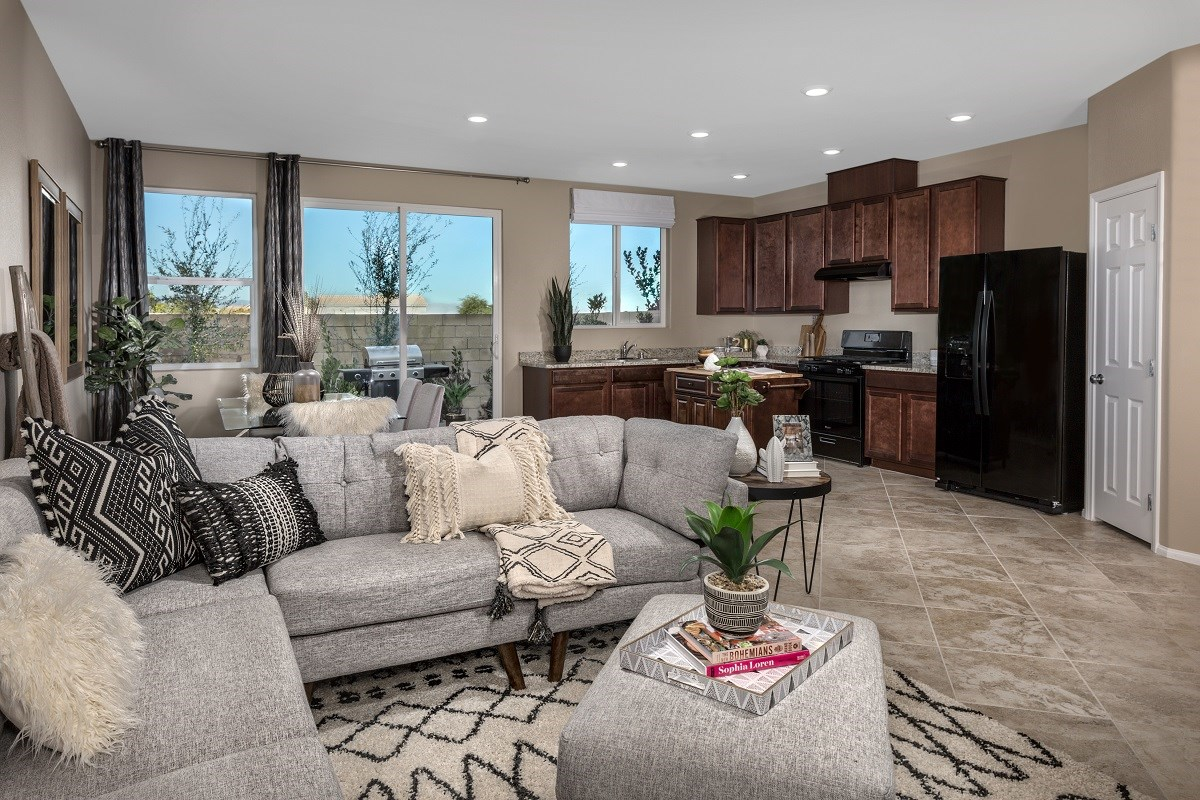 New Homes in Las Vegas, NV - Autumn Winds Plan 1497 Great Room