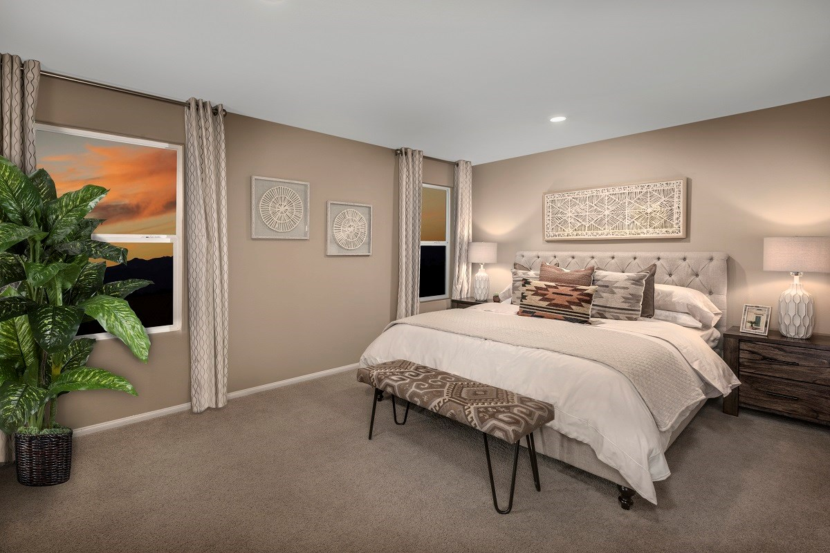 New Homes in Las Vegas, NV - Autumn Winds Plan 1497 Master Bedroom 1